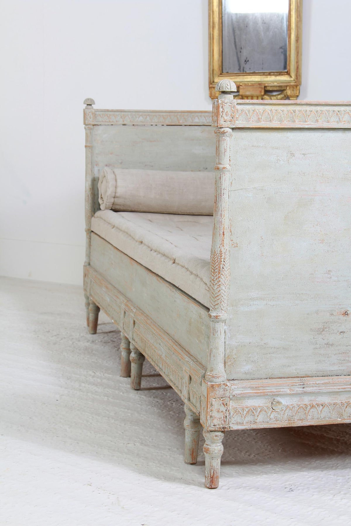Spectacular Swedish 19thC  Painted Sofa Bench