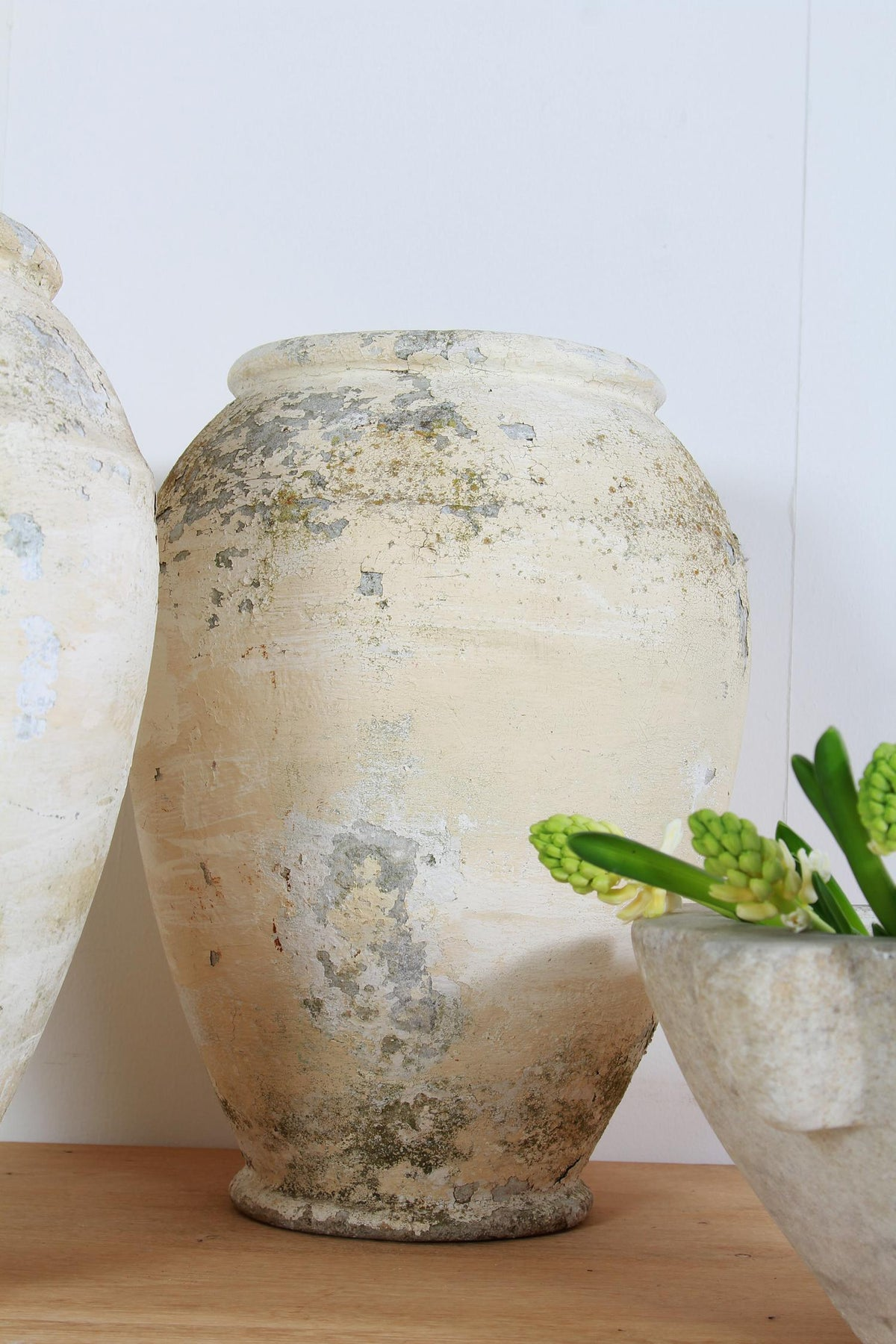 Pair of Matching French  19th Century Concrete Pots