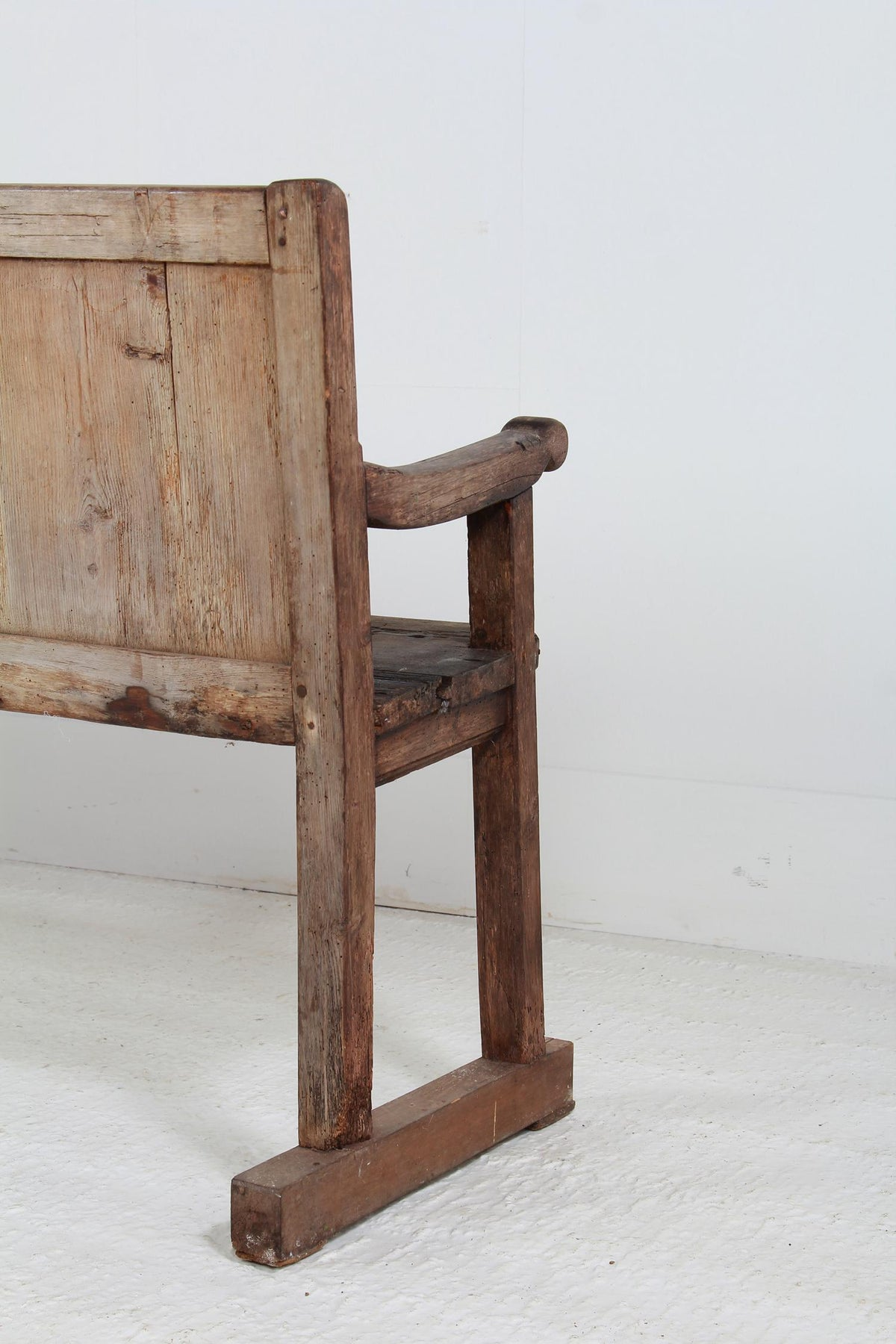 Rustic Primitive  Country French 19thC Hall Bench