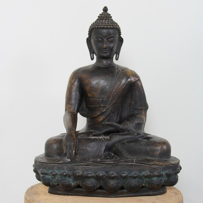 Beautiful Decorative Buddha With Serene Down Cast Eyes