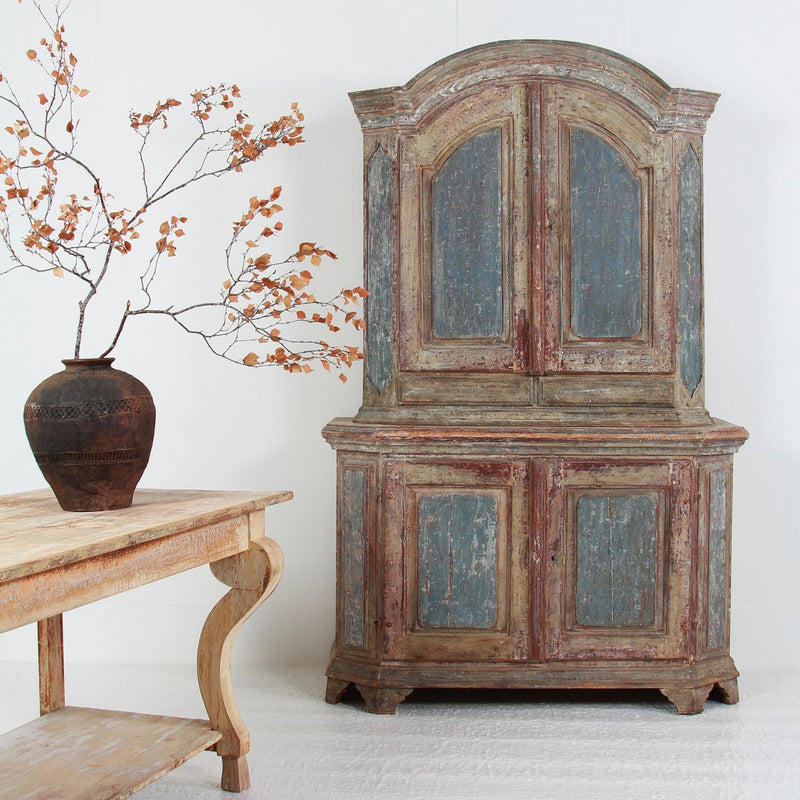 Exquisite Swedish 18th Century Rococo Period Cabinet