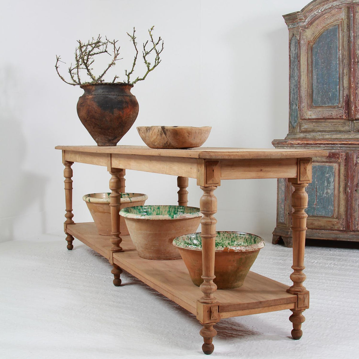 Outstanding 19th Century French Bleached Oak Draper's Table