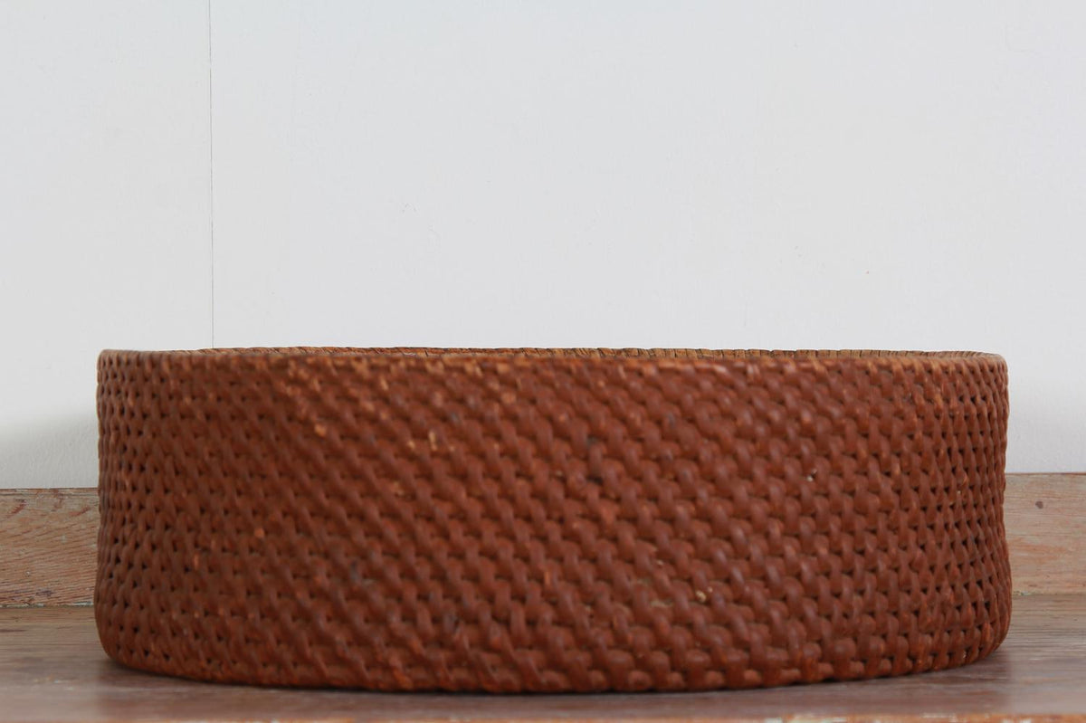 Swedish Folk Art 19thC Woven Cheese Basket