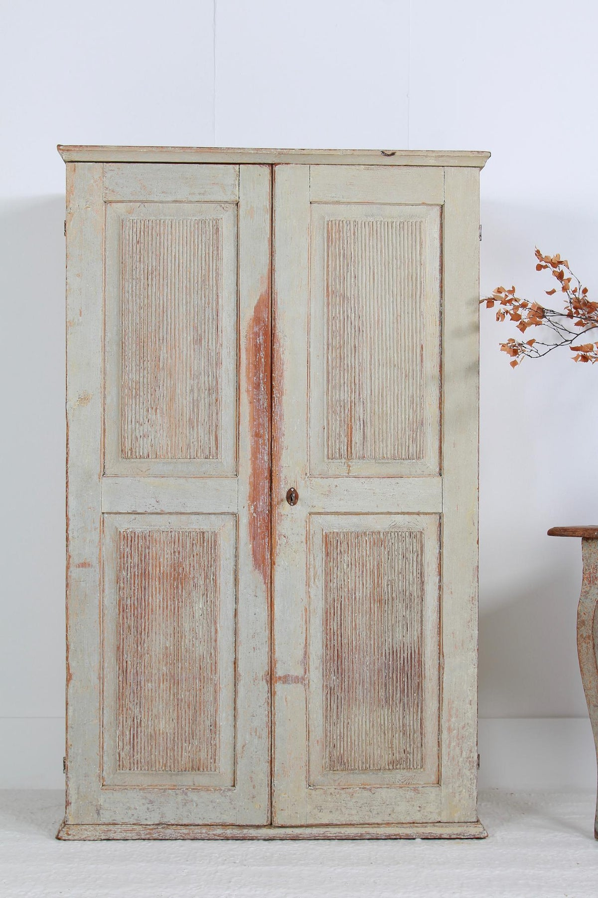 Swedish  19thC Period Gustavian Painted  Cabinet