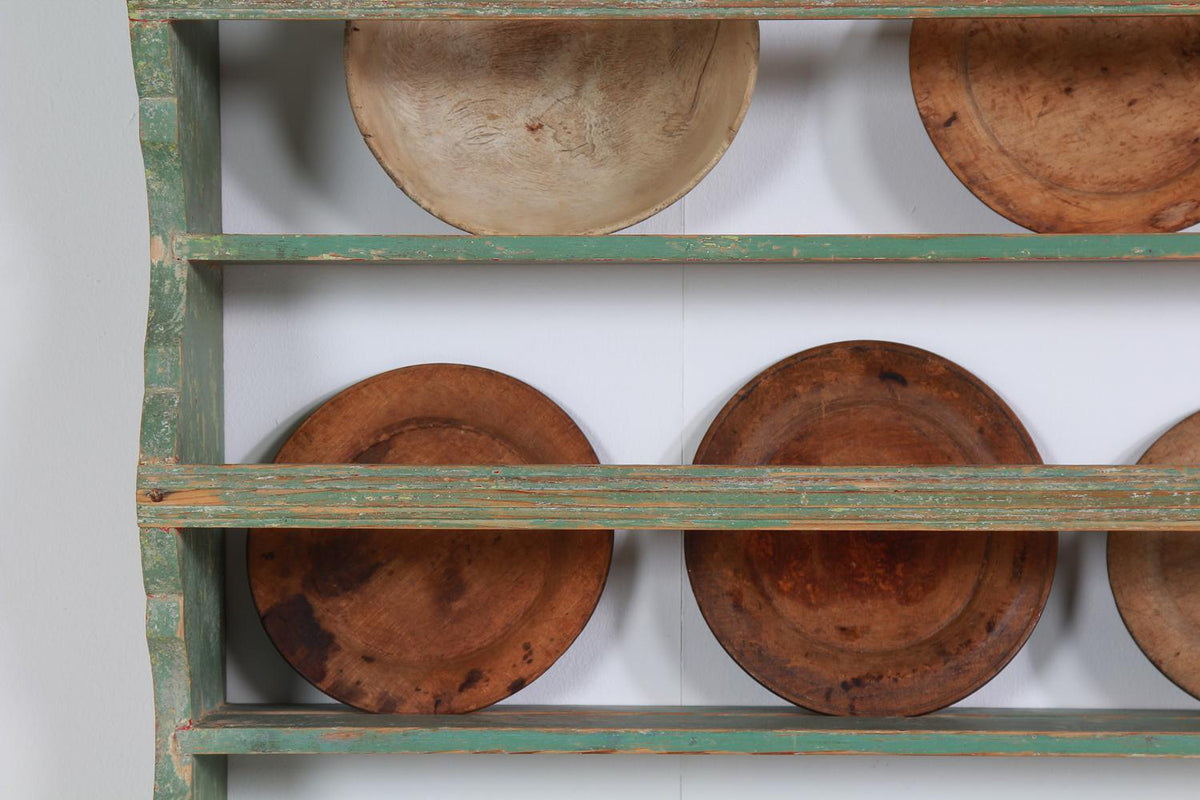 Original Scandinavian Country Stepped Plate Rack