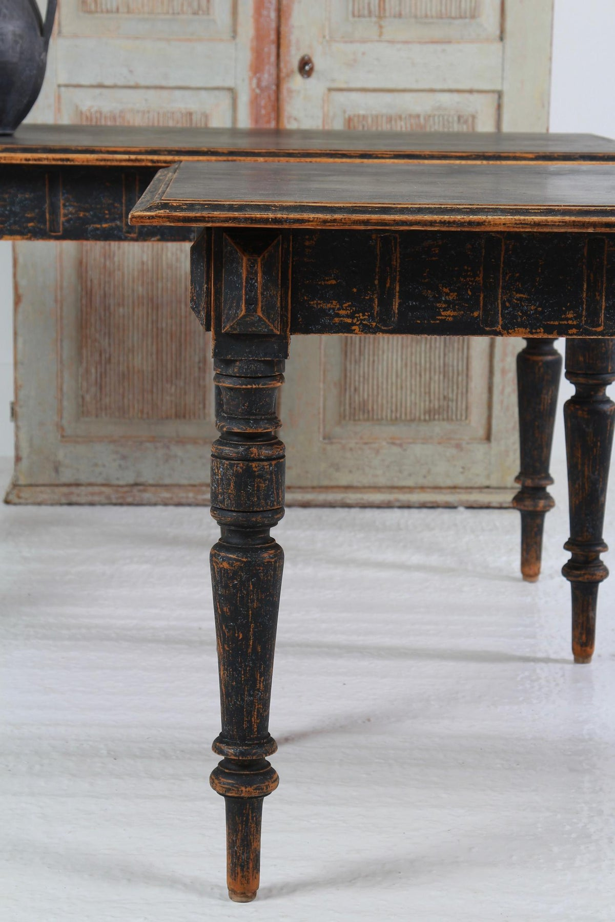 Interesting Pair of Swedish Late 19thC Console Tables
