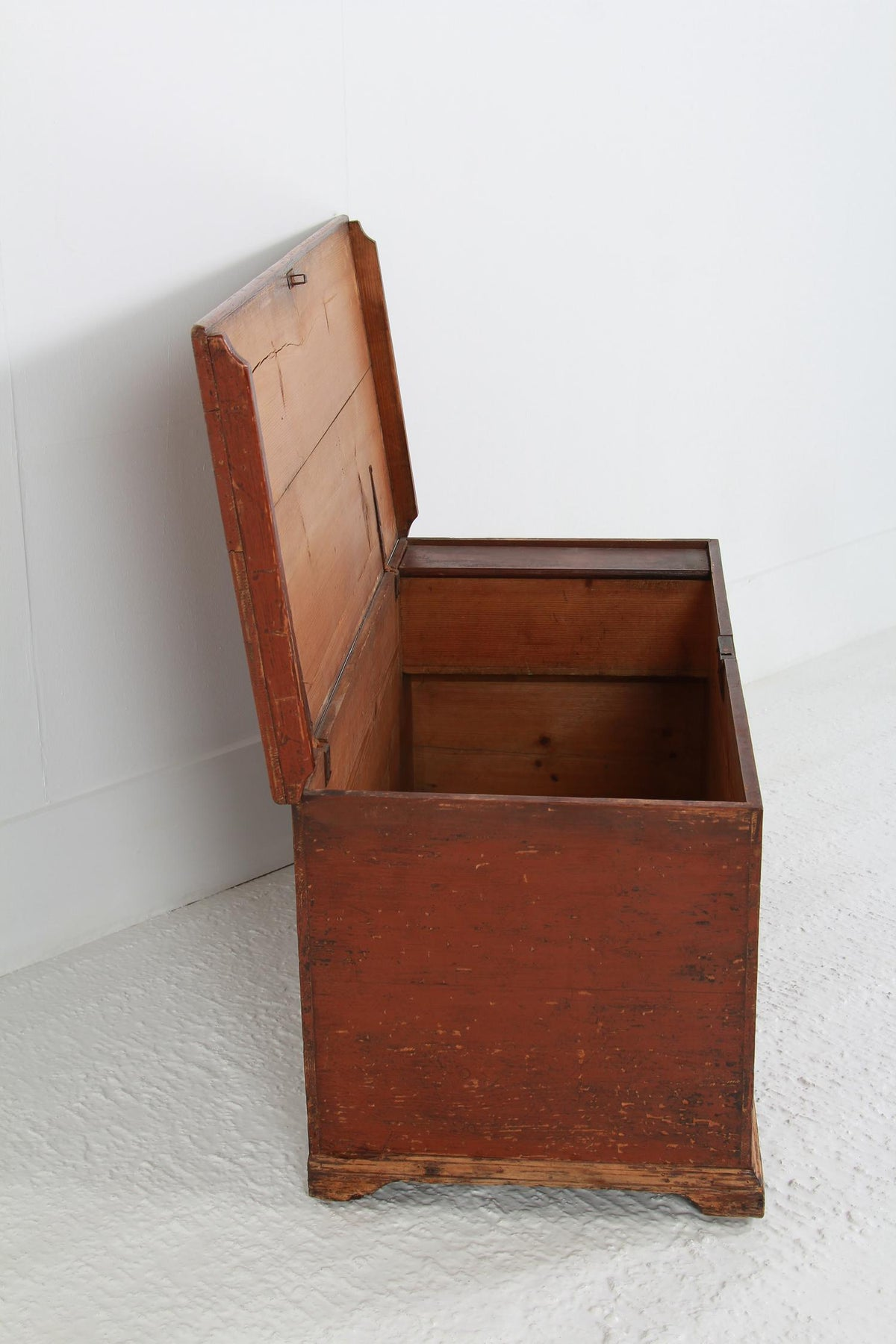 English Early 19thC West Country Blanket  Box