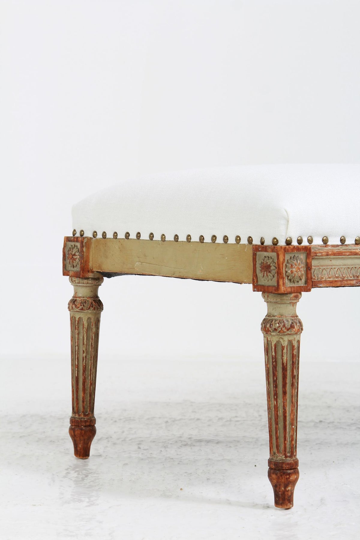 Stylish French 19th Century Louis XIV Painted Foot Stool