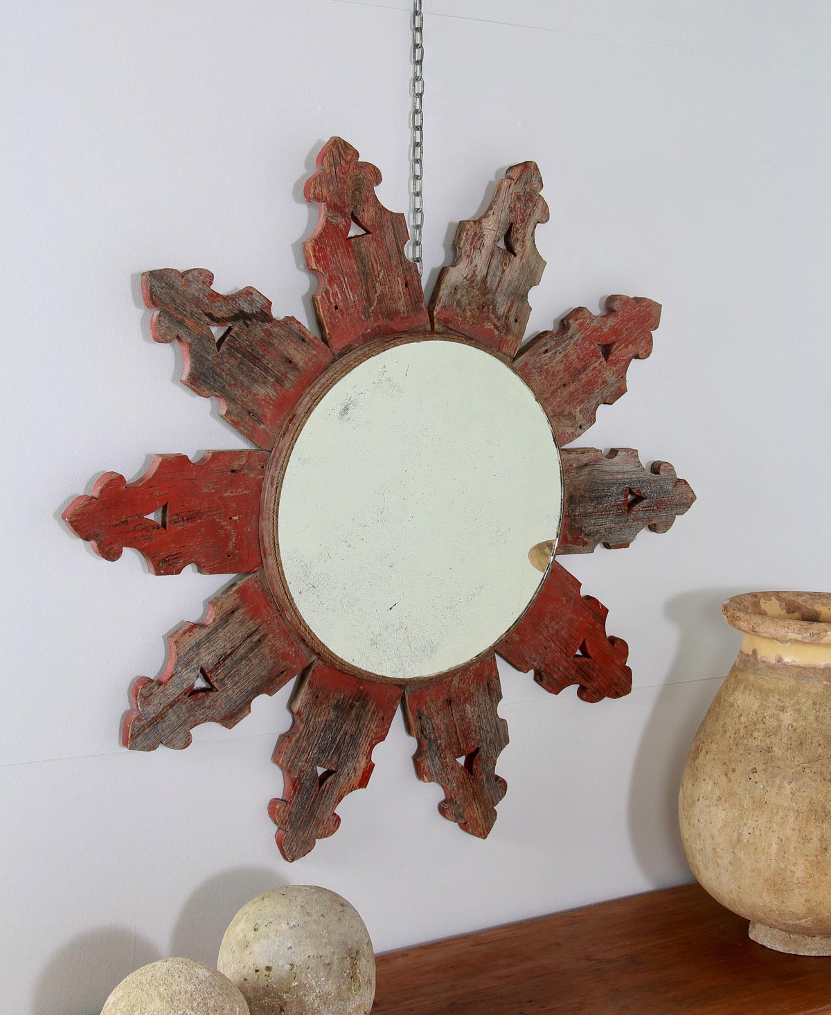 Grand Scale Unique French Architectural Wooden Mirrors