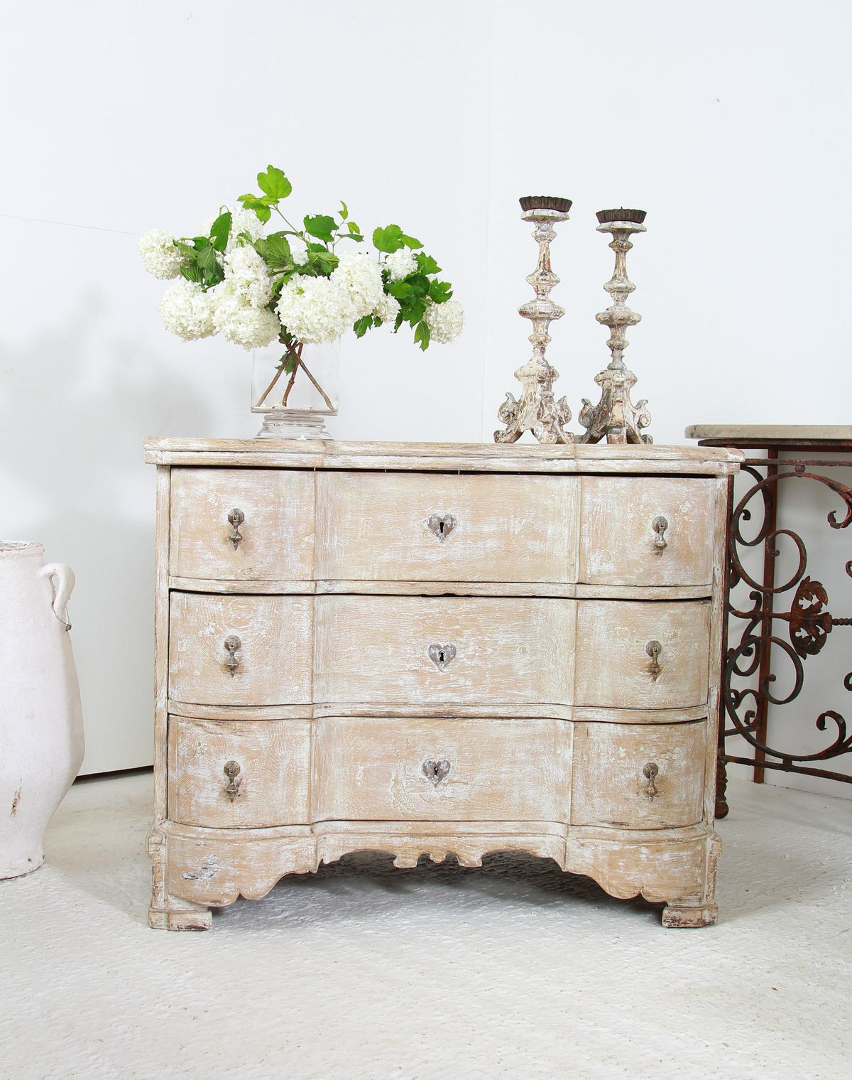 French 18thC Serpentine Chest of Drawers