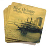 Set of 4 Wooden Coasters - Mighty Mississippi