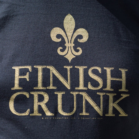 Finish Crunk 100% Cotton T - Black with Classy Metallic Gold Print