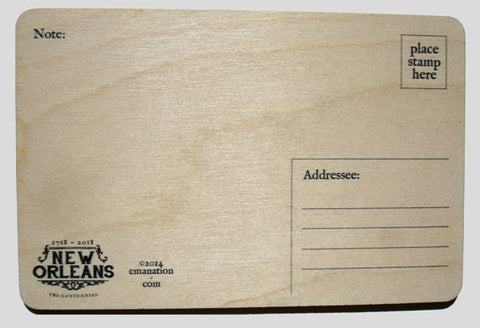 Set of 4 Wooden Postcards - Old Absinthe House