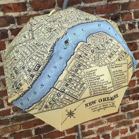 Umbrella - NOLA Map - Compact 42""