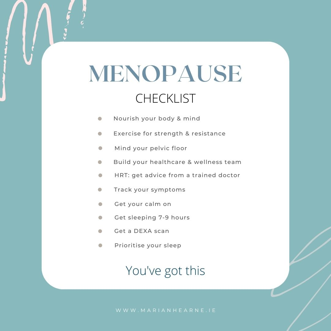 10 step checklist to getting starting to thriving in menopause