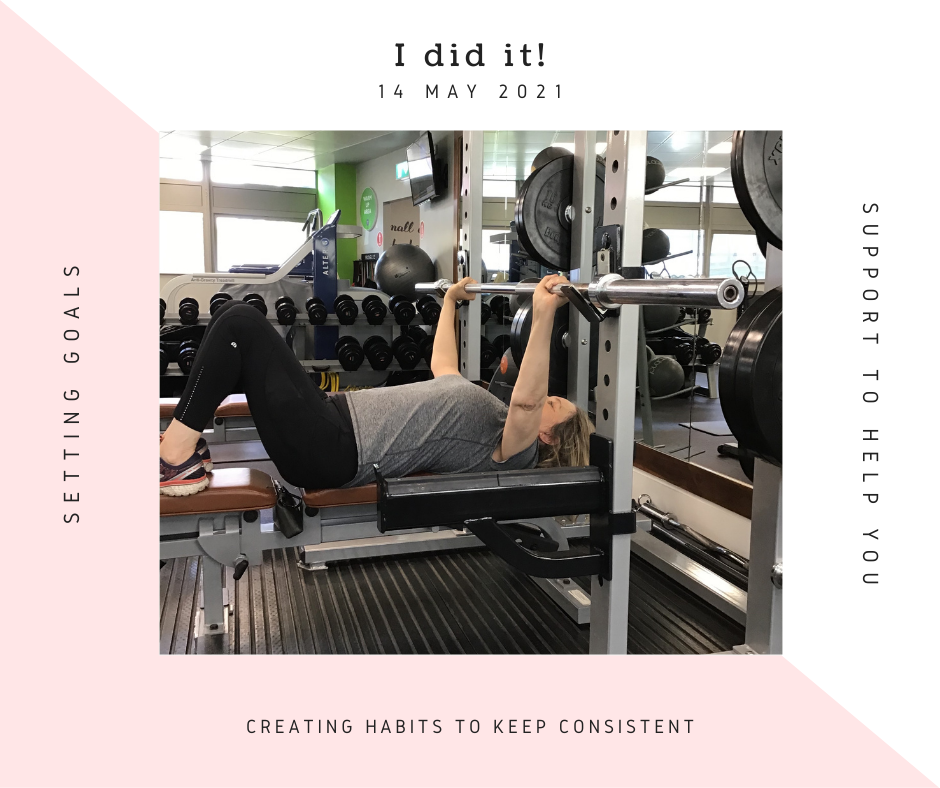 I did it! Consistent habits helped me build strength.