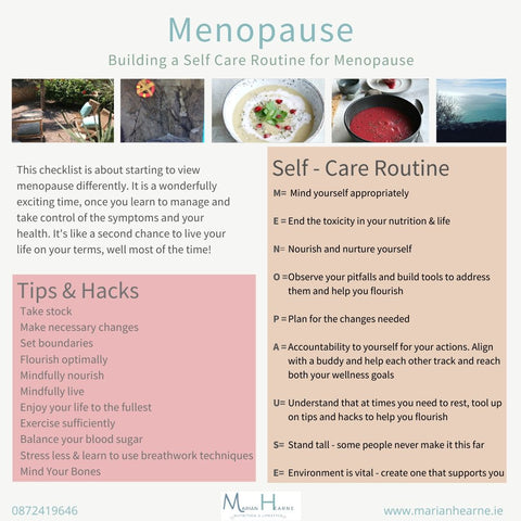 Menopause : Nutrition & Lifestyle Tips & Hacks Checklist