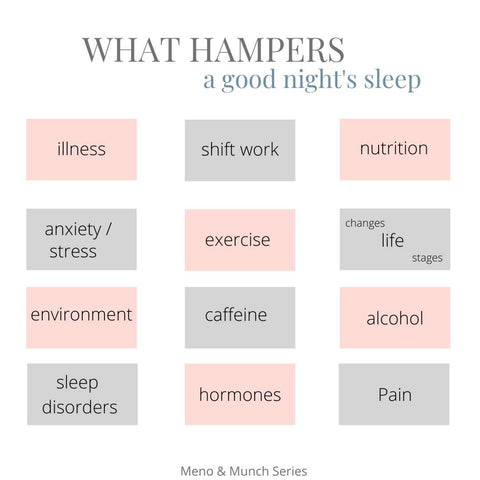 What hampers a good night's sleep