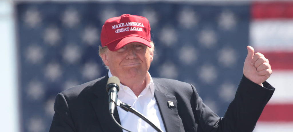Make America Great Again Hat Flex Fit with Lower Side MAGA and flag on the back