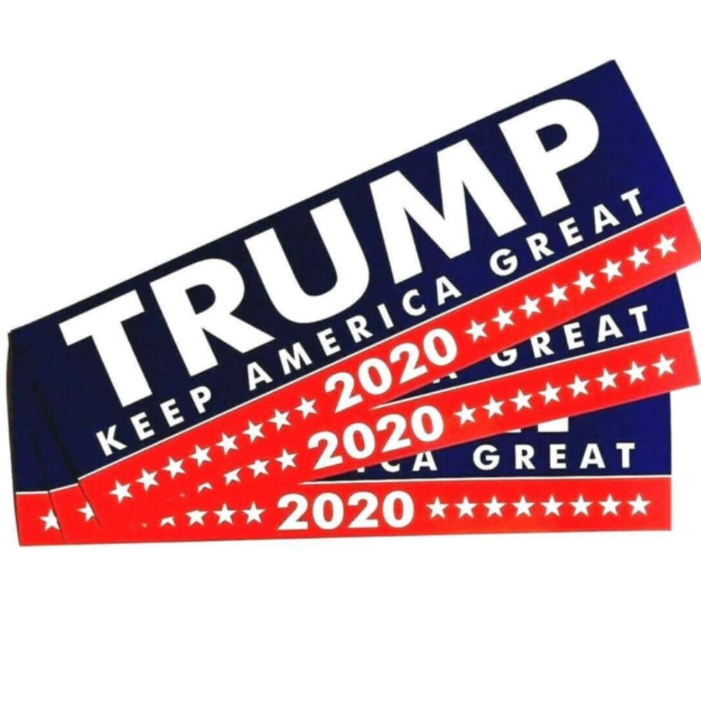 10pcs Keep America Great Bumper Sticker-Trump Rack