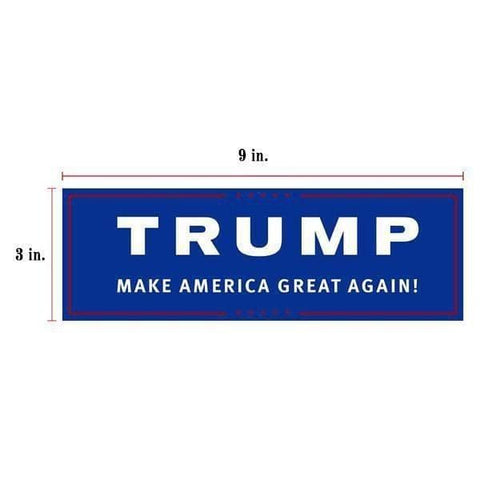 Image of 10pcs Trump Make America Great Again Bumper Sticker-Trump Rack