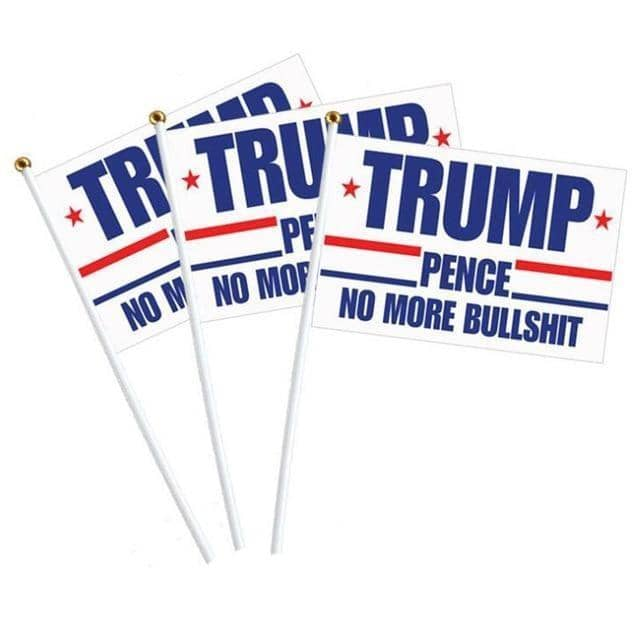 10x Handheld Trump Rally Flags-Trump Rack