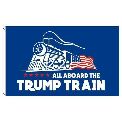 Image of All Aboard The Trump Train Flag-Trump Rack