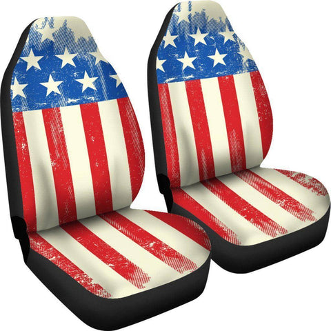 Image of American Flag Car Seat Covers-Trump Rack