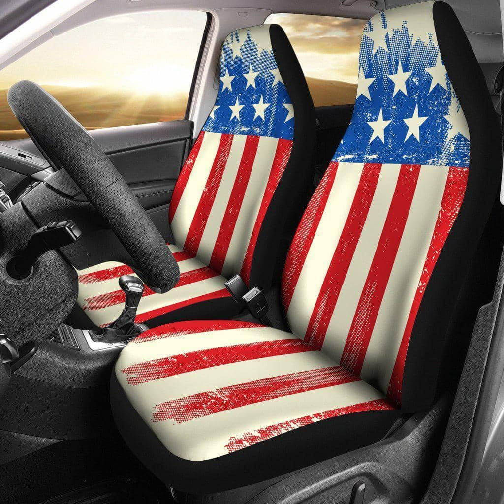 American Flag Car Seat Covers-Trump Rack