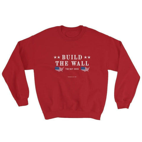 Build The Wall Sweatshirt-Trump Rack