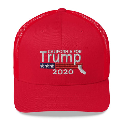 California For Trump Trucker Cap-Trump Rack