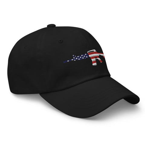 AR American Flag Dad hat