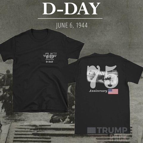 Image of D-Day 75th Anniversary T-Shirt-Trump Rack