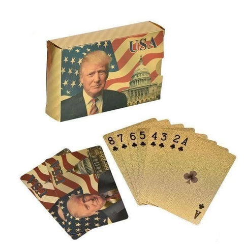 Image of Donald Trump Gold Poker Cards-Trump Rack