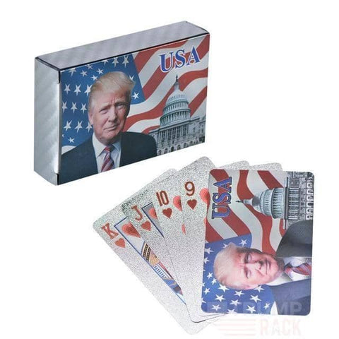 Image of Donald Trump Silver Poker Cards-Trump Rack