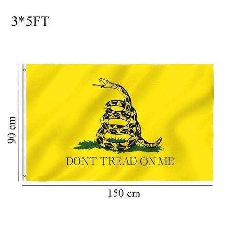 Don't Tread On Me 3X5' Flag-Trump Rack