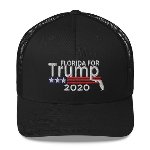 Image of Florida For Trump 2020 Trucker Cap-Trump Rack