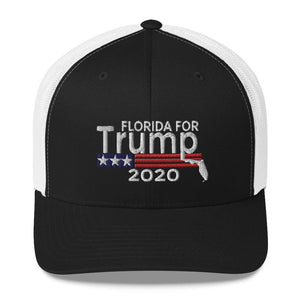 Florida For Trump 2020 Trucker Cap-Trump Rack