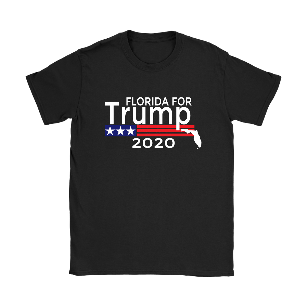 Florida For Trump Womens T-Shirt-Trump Rack