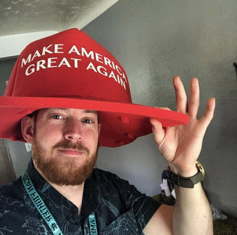 Image of HUGE Foam MAGA Hat-Trump Rack