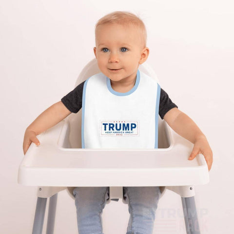 Keep America Great - Embroidered Baby Bib-Trump Rack