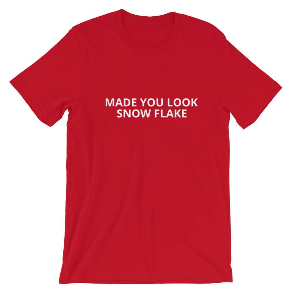 Made You Look Snow Flake T-Shirt-Trump Rack