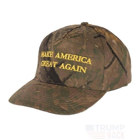 Image of MAGA Forrest Camo Hat-Trump Rack