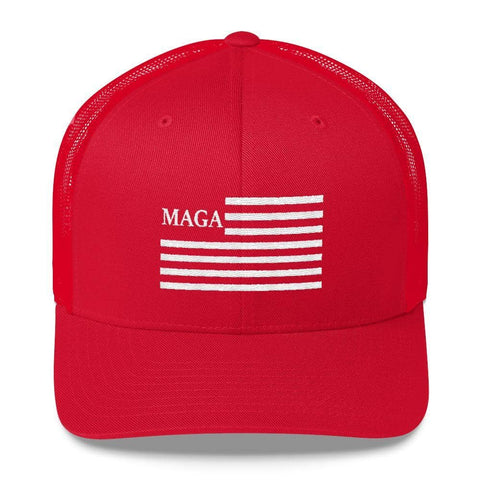 Image of MAGA Trucker Hat-Trump Rack