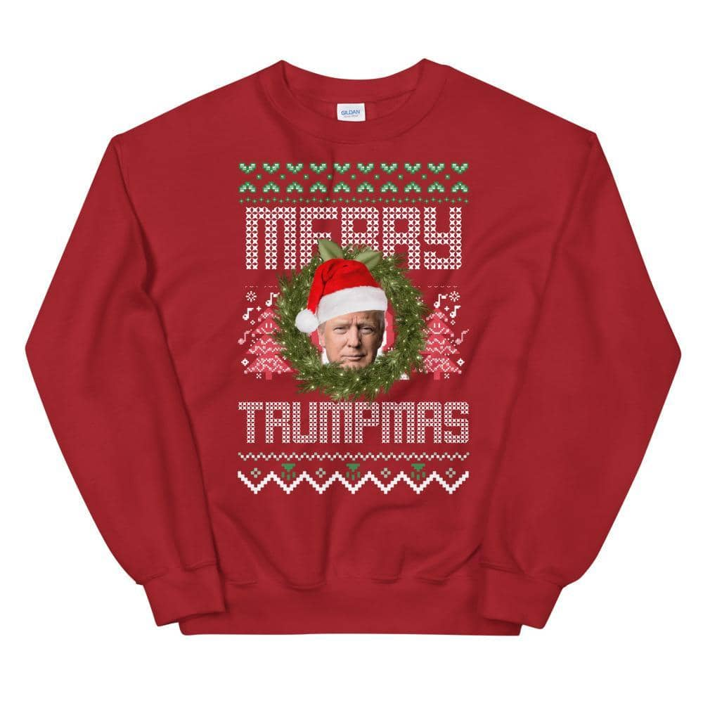 """Merry Trumpmas"" Trump Ugly Christmas Sweater-Trump Rack"