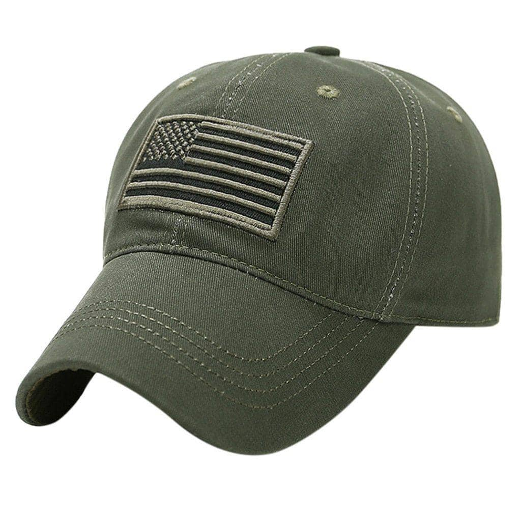Military USA Flag Baseball Cap-Trump Rack