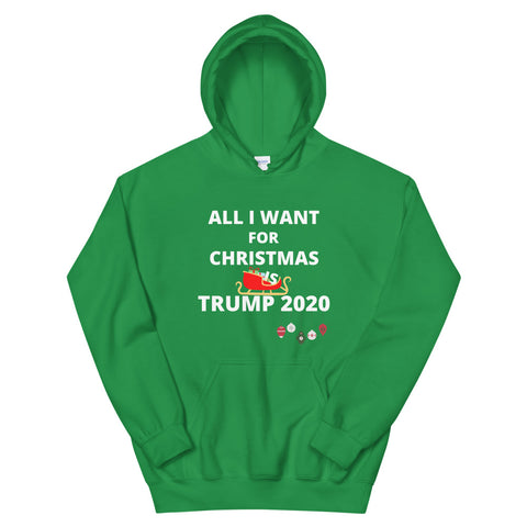 Image of All I Want For Christmas is Trump 2020 Unisex Hoodie
