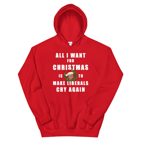 All I Want For Christmas Is To Make Liberals Cry Again Unisex Hoodie