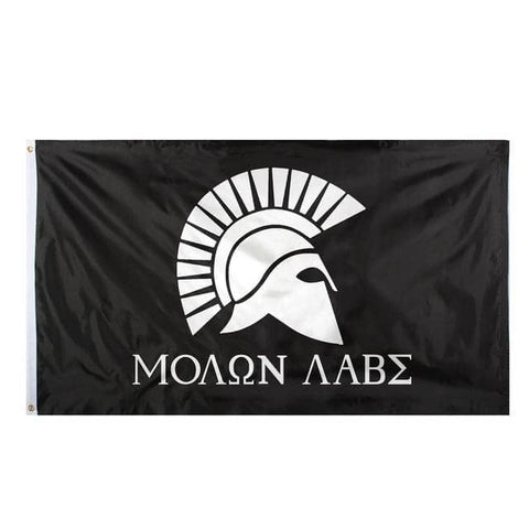 Image of Molon Labe Flag 3'x5'-Trump Rack