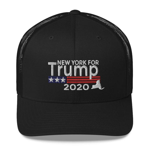 Image of New York For Trump Trucker Cap-Trump Rack